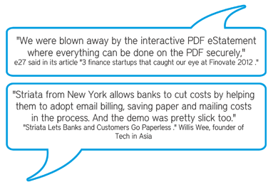 Fintech demo speech bubble