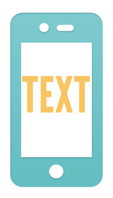 Text on mobile
