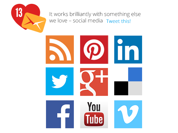 It works brilliantly with something else we love - social media