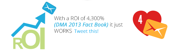 With a ROI of 4,300% (DMA 2013 Fact Book) it just WORKS