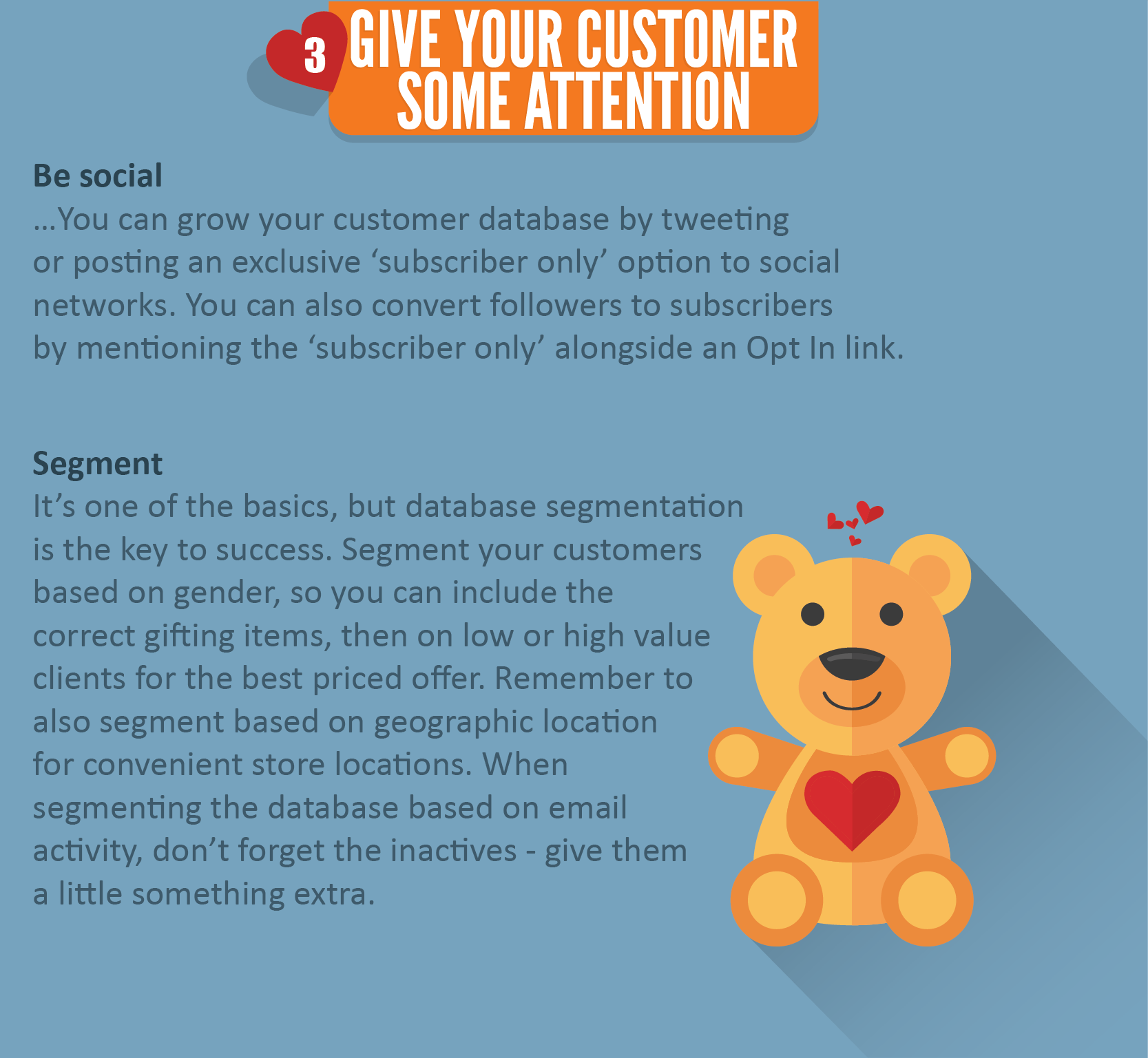 Give your Customers some attention