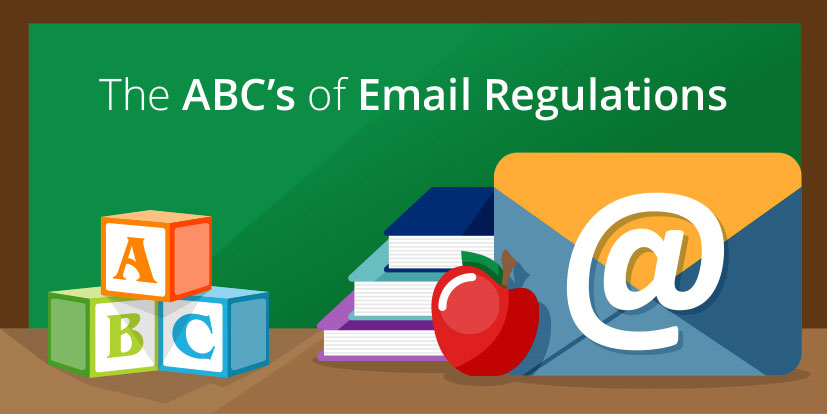 The ABCs of Email Regulations infographic header