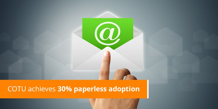 COTU Achieves 30% Paperless Adoption