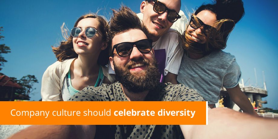 Company culture should celebrate diversity