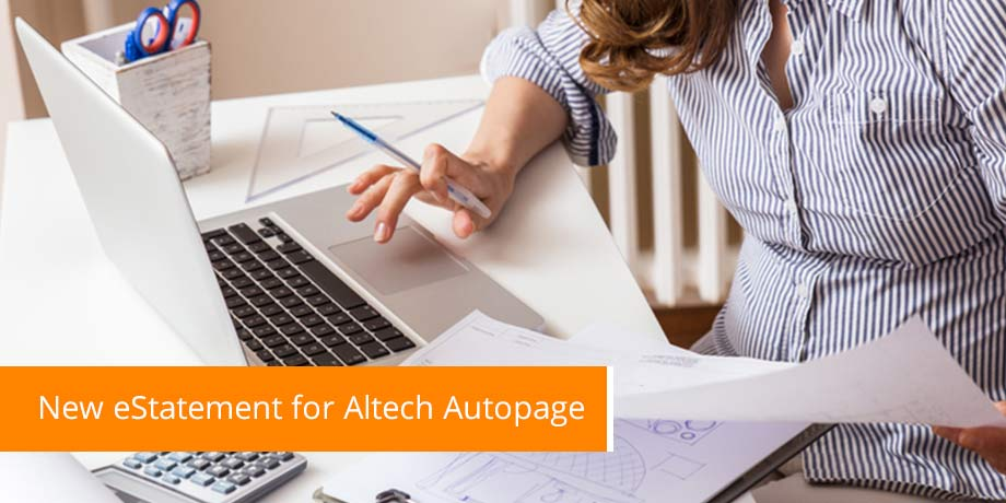 New eStatement For Altech Autopage