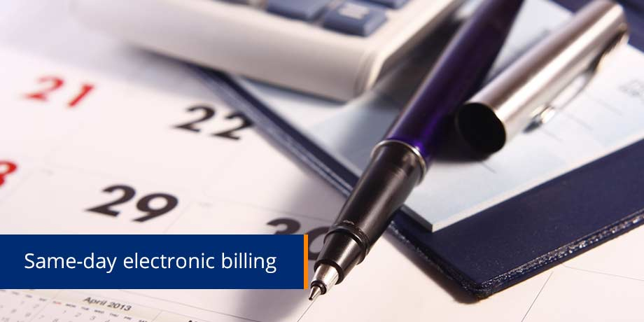 Same Day Electronic Billing