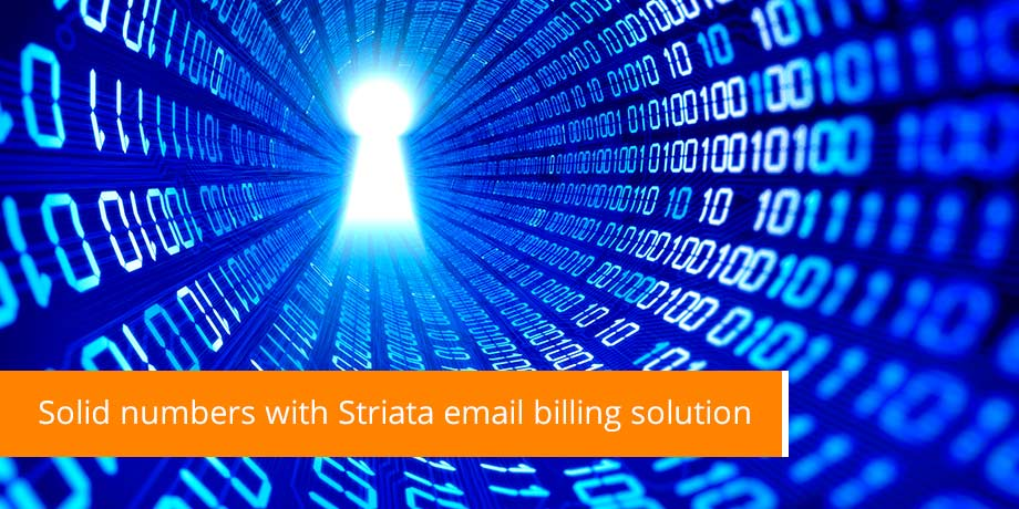 Solid Numbers With Striata Email Billing Solution