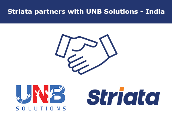 Striata partners with UNB Solutions, India