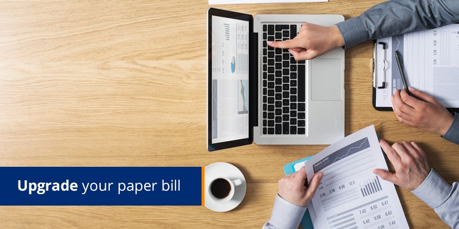 Upgrade your paper bill