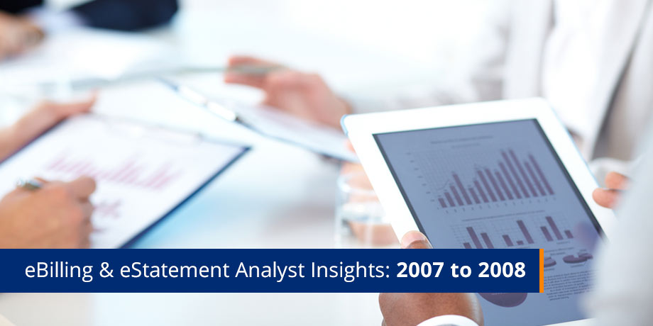 Analyst Insights - eBilling and eStatements