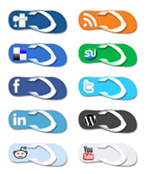 Flip flop icons