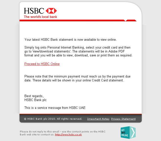 Hsbc Phishing Example