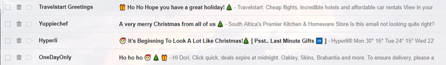 Emojis in subject lines
