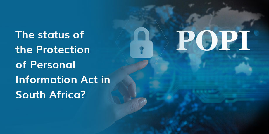Possible enactment date for Protection of Personal Information Act in South Africa